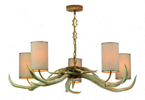 Antler 5-light Made in the Cotswolds Bleached finish Ceiling Light ANT0549